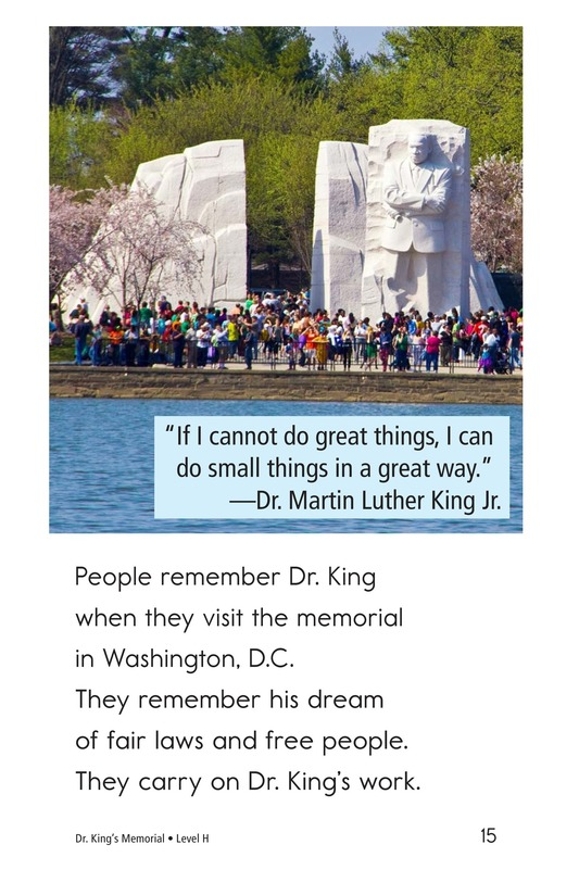 Book Preview For Dr. King's Memorial Page 15