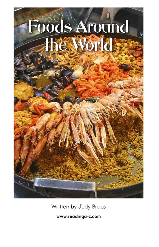 Book Preview For Foods Around the World Page 2