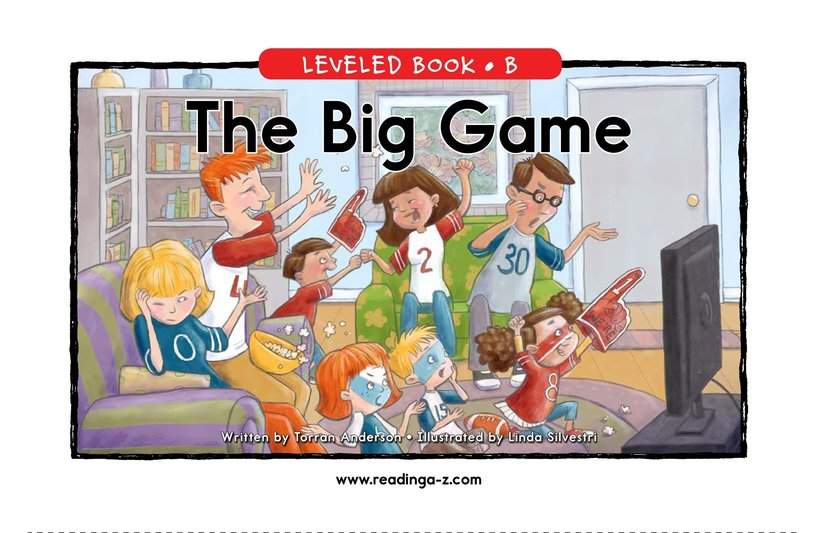 Book Preview For The Big Game Page 1