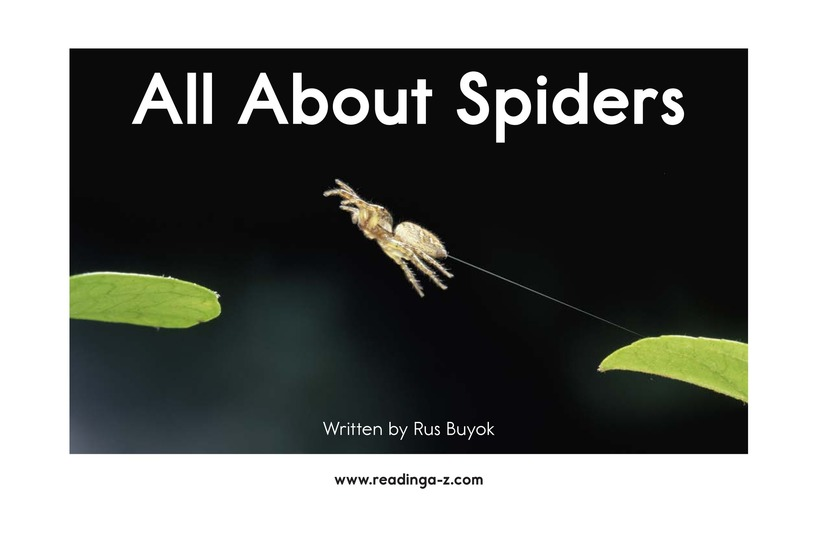 Book Preview For All About Spiders Page 2