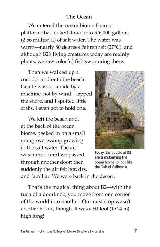 Book Preview For The University of Arizona College of Science Biosphere 2 Page 11