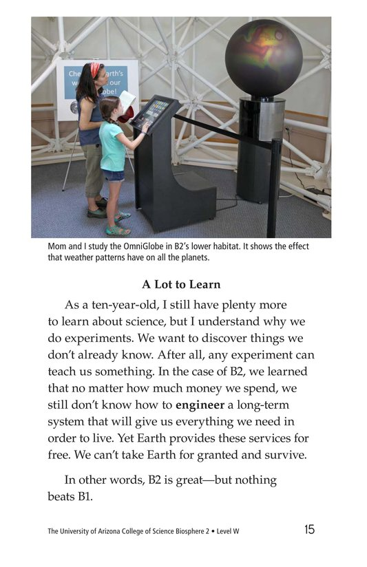 Book Preview For The University of Arizona College of Science Biosphere 2 Page 15
