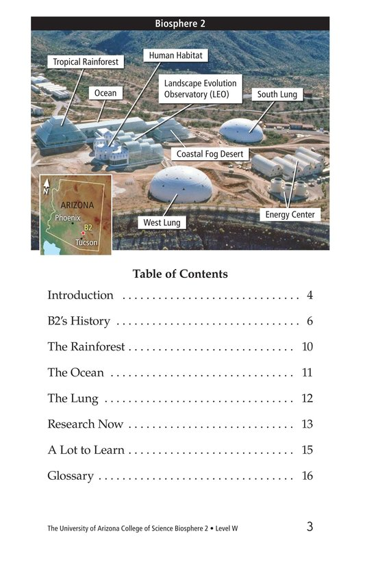 Book Preview For The University of Arizona College of Science Biosphere 2 Page 3
