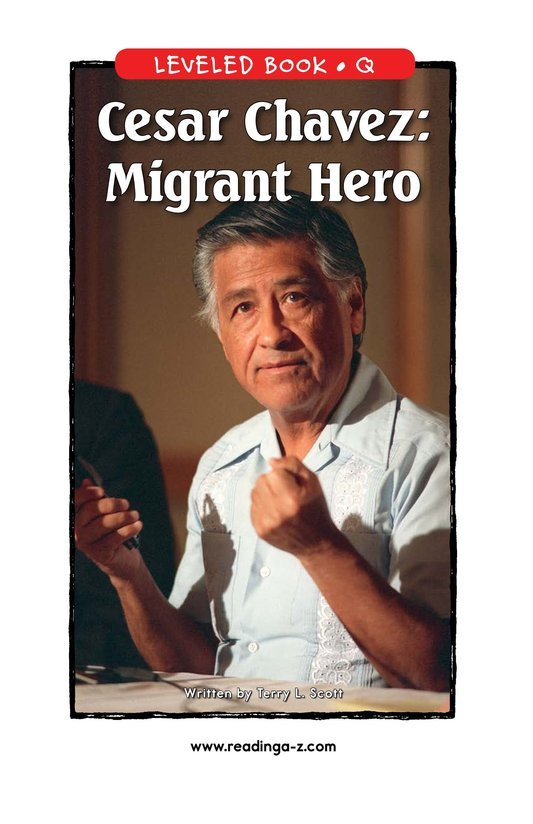 Book Preview For Cesar Chavez: Migrant Hero Page 1