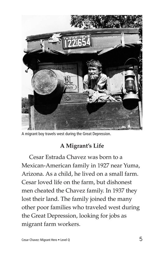 Book Preview For Cesar Chavez: Migrant Hero Page 5