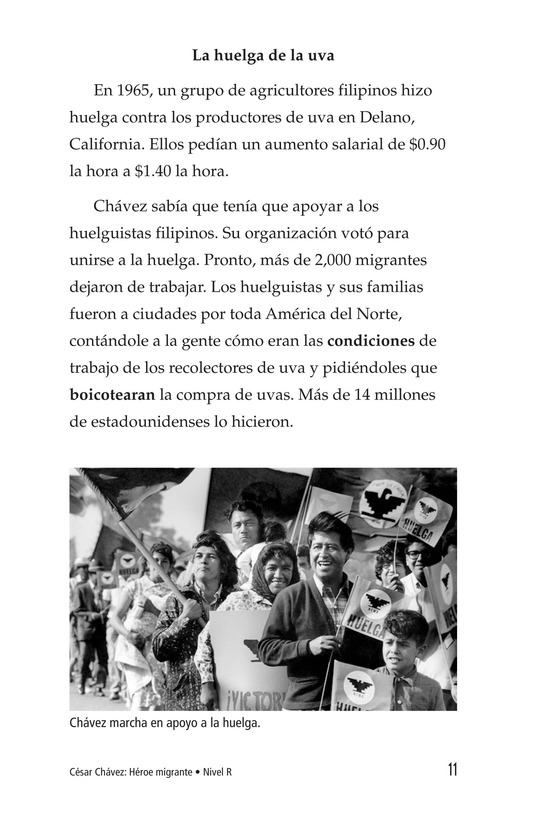 Book Preview For Cesar Chavez: Migrant Hero Page 11