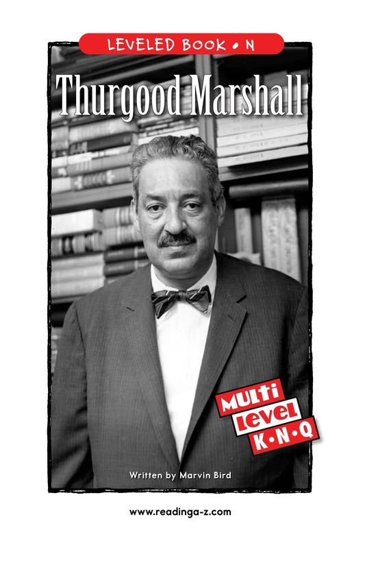 Book Preview For Thurgood Marshall Page 1