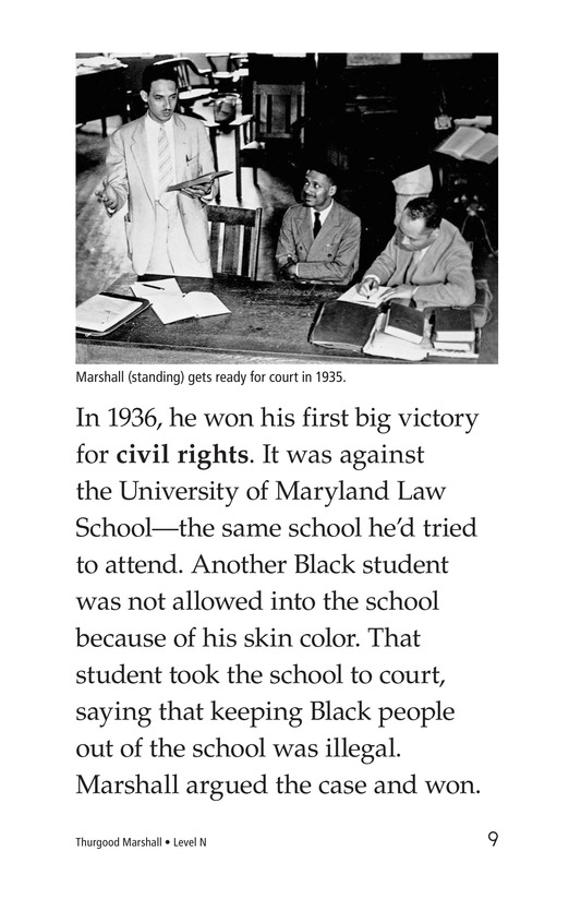 Book Preview For Thurgood Marshall Page 9