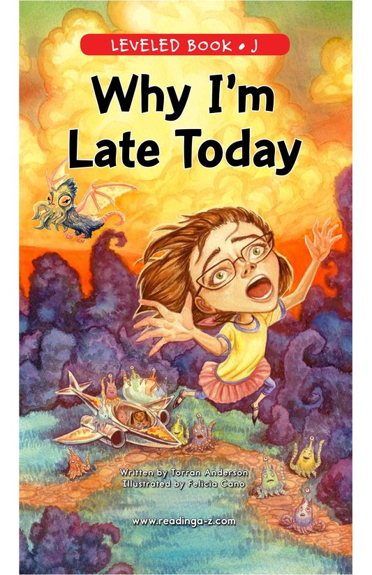 Book Preview For Why I'm Late Today Page 1