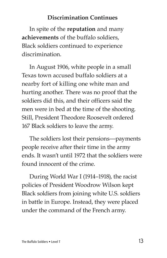 Book Preview For The Buffalo Soldiers Page 13