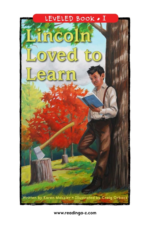Book Preview For Lincoln Loved to Learn Page 1