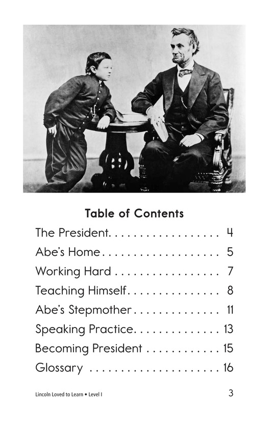 Book Preview For Lincoln Loved to Learn Page 3