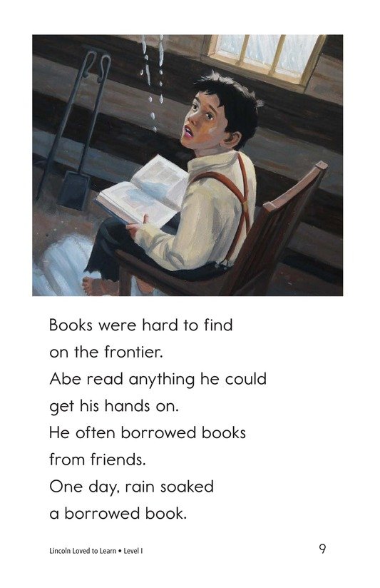 Book Preview For Lincoln Loved to Learn Page 9
