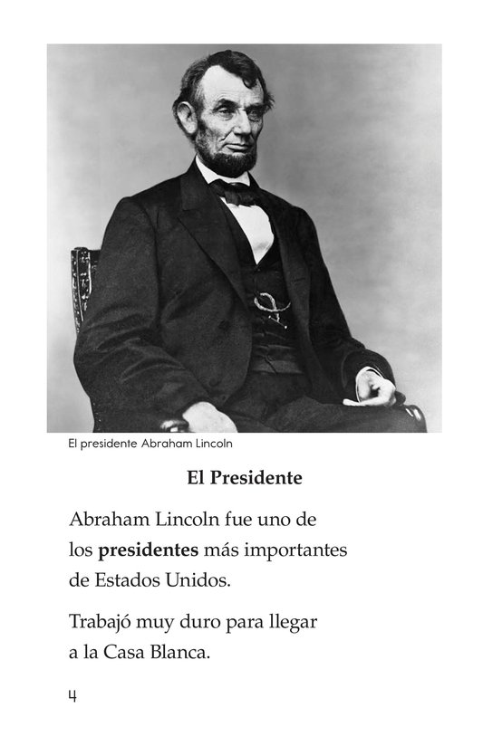 Book Preview For Lincoln Loved to Learn Page 4
