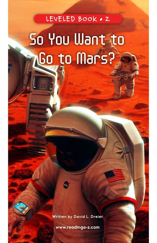 Book Preview For So You Want To Go To Mars? Page 1