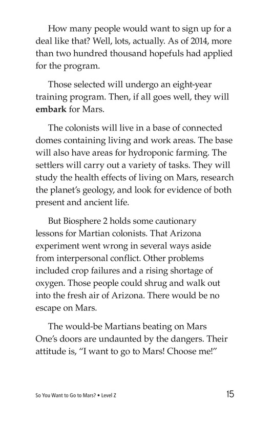 Book Preview For So You Want To Go To Mars? Page 15