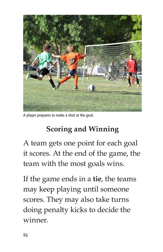 Book Preview For Soccer Is a Kick! Page 14