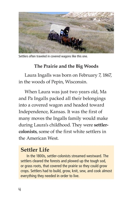 Book Preview For Laura Ingalls Wilder: A Pioneer's Life Page 4