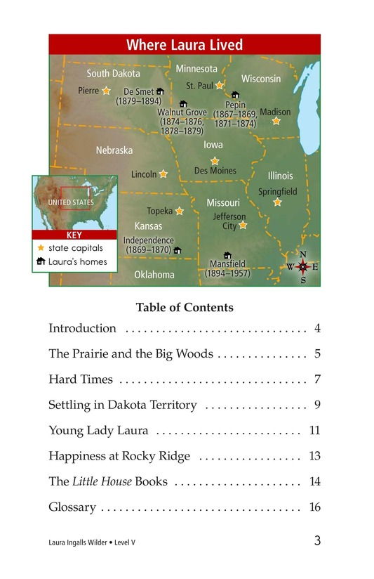 Book Preview For Laura Ingalls Wilder: A Pioneer's Life Page 3