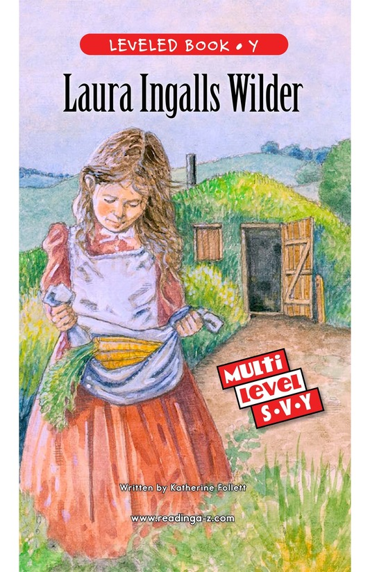 Book Preview For Laura Ingalls Wilder: A Pioneer's Life Page 1