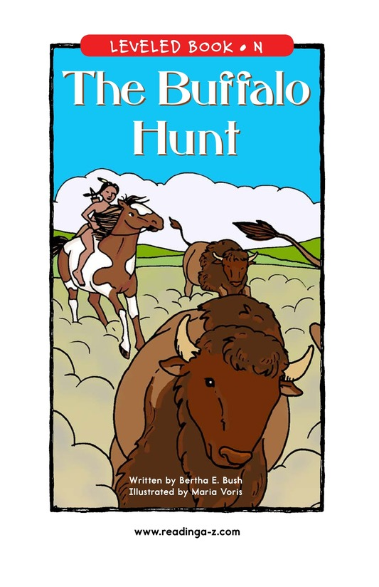 Book Preview For The Buffalo Hunt Page 1