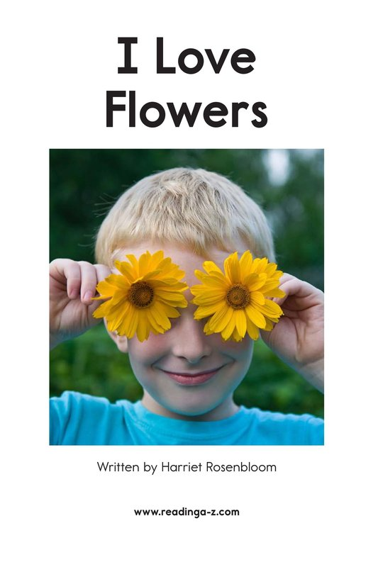 Book Preview For I Love Flowers Page 2