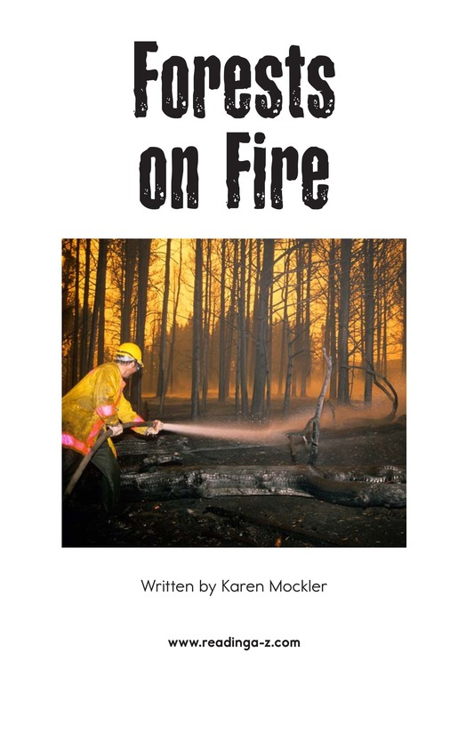 Book Preview For Forests on Fire Page 2