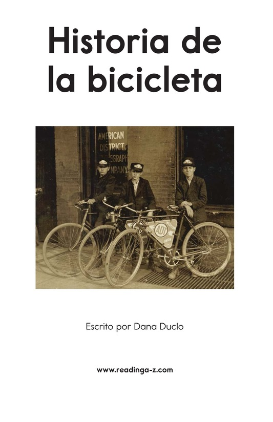 Book Preview For History of the Bicycle Page 2