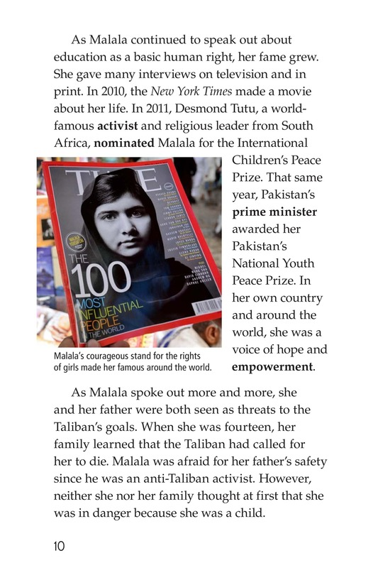 Book Preview For Malala the Brave Page 10