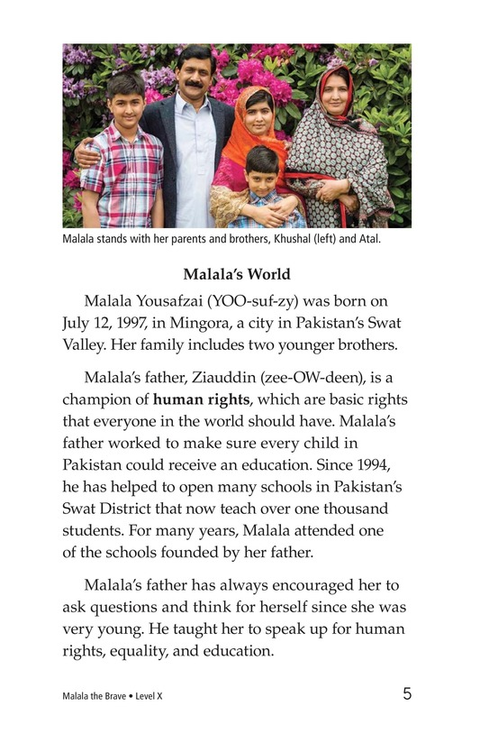 Book Preview For Malala the Brave Page 5