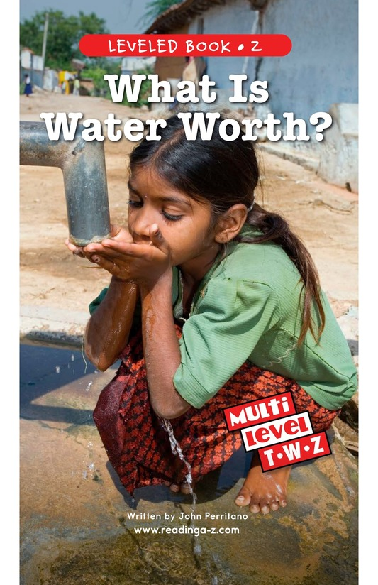 Book Preview For What Is Water Worth? Page 1