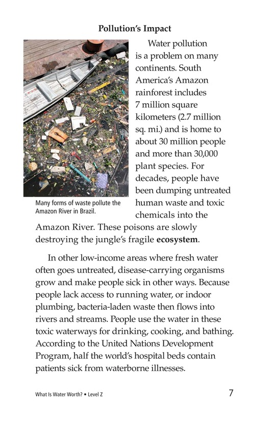 Book Preview For What Is Water Worth? Page 7