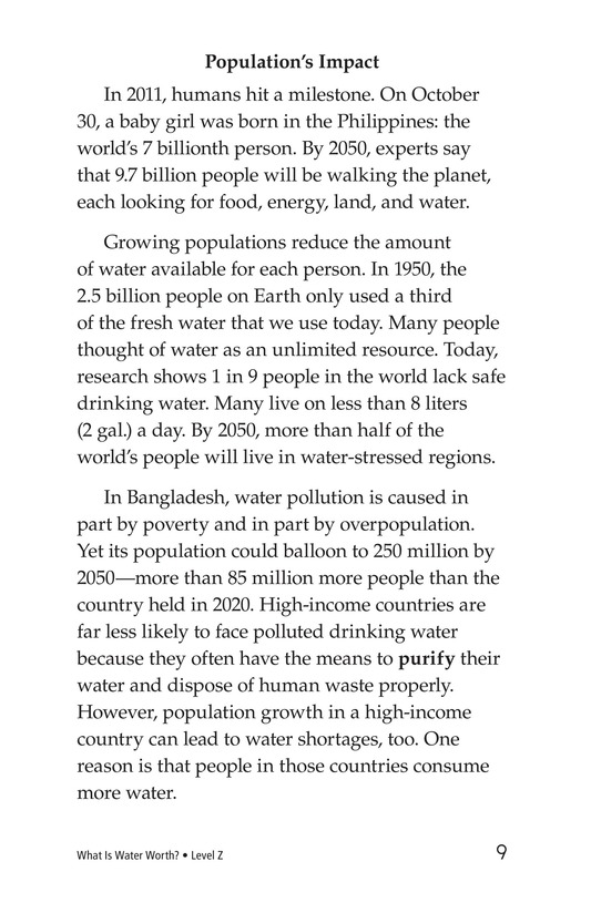 Book Preview For What Is Water Worth? Page 9