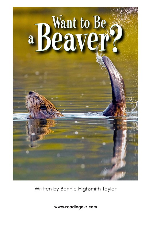 Book Preview For Want to Be a Beaver? Page 2