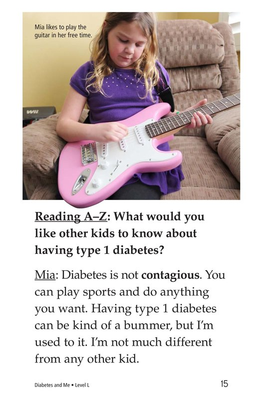 Book Preview For Diabetes and Me Page 15