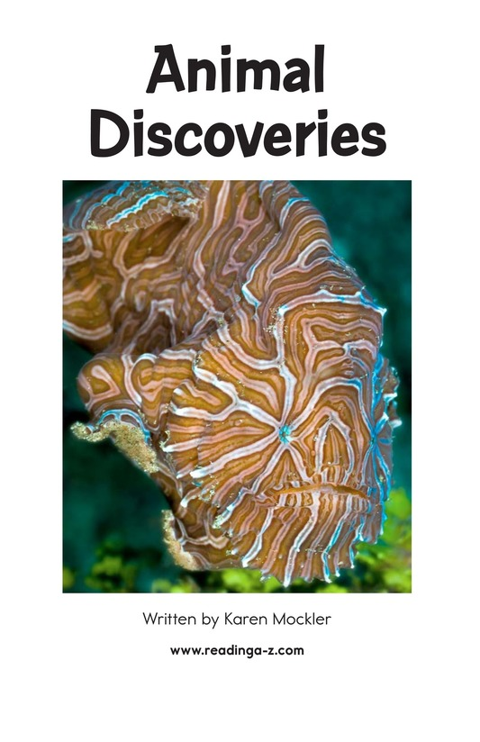 Book Preview For Animal Discoveries Page 2