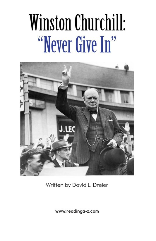 Book Preview For Winston Churchill: