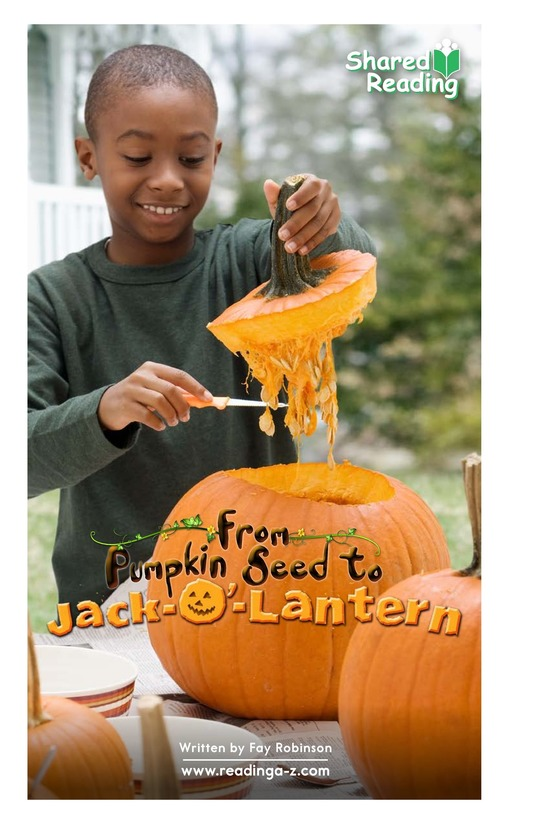 Book Preview For From Pumpkin Seed to Jack-o'-Lantern Page 1