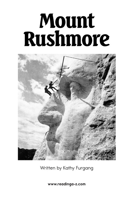 Book Preview For Mount Rushmore Page 2