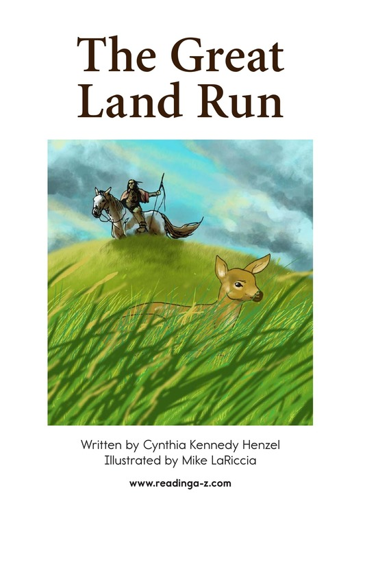 Book Preview For The Great Land Run Page 1