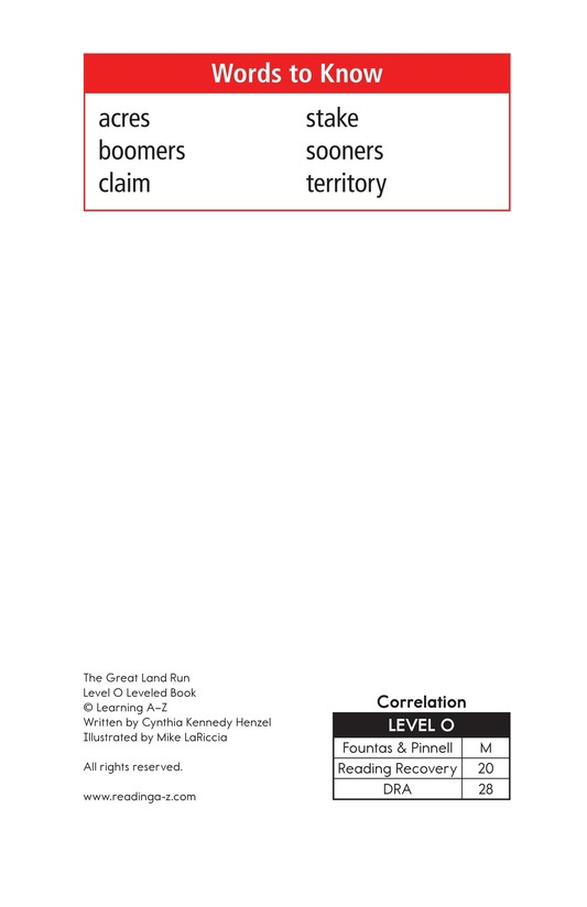 Book Preview For The Great Land Run Page 2