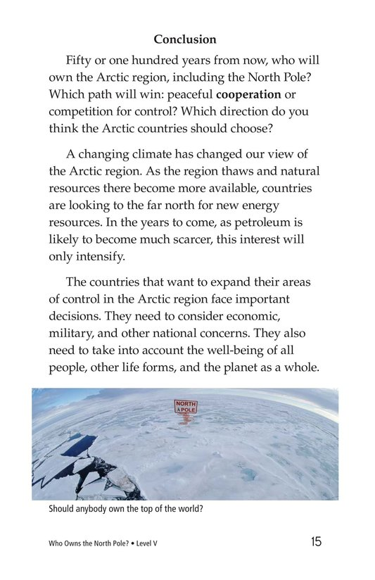 Book Preview For Who Owns the North Pole? Page 15