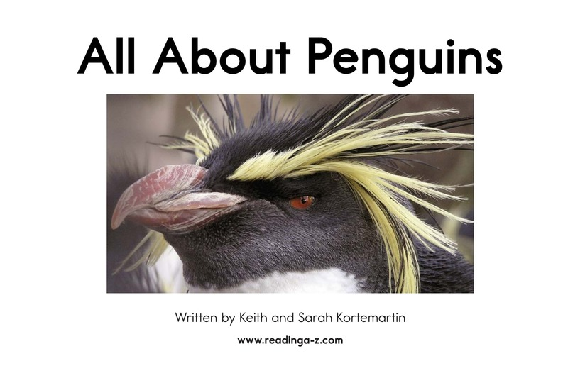 Book Preview For All About Penguins Page 2