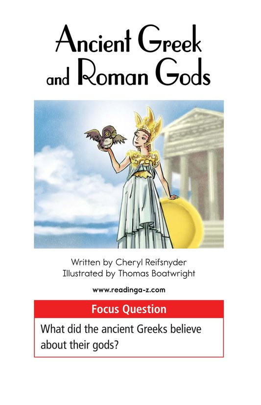 Book Preview For Ancient Greek and Roman Gods Page 1