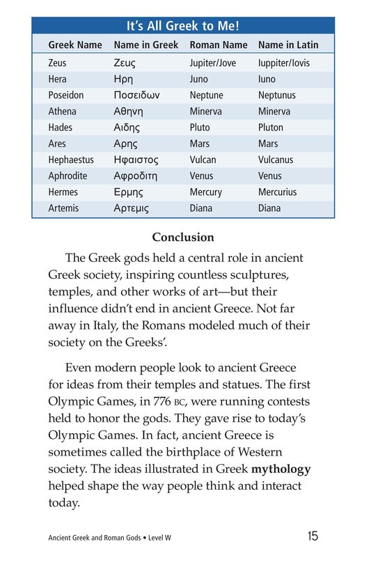 Book Preview For Ancient Greek and Roman Gods Page 15
