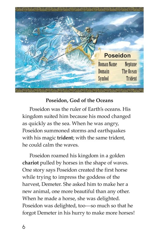 Book Preview For Ancient Greek and Roman Gods Page 6