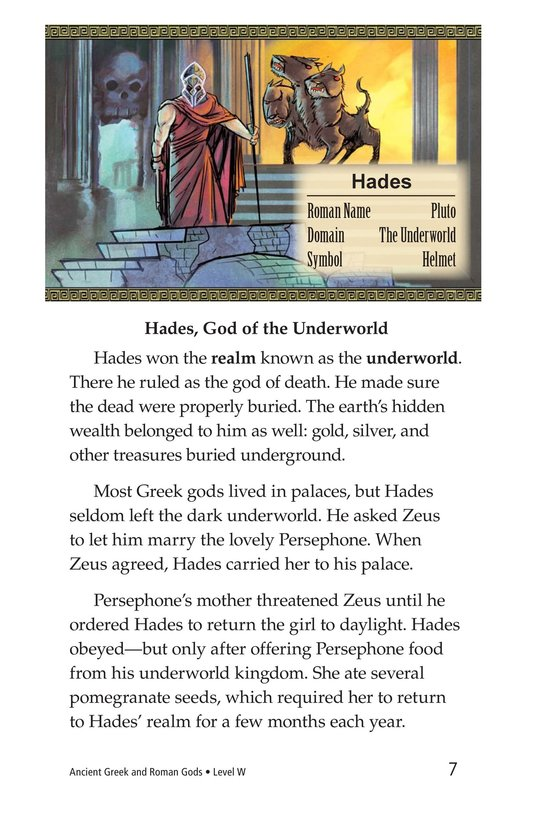 Book Preview For Ancient Greek and Roman Gods Page 7
