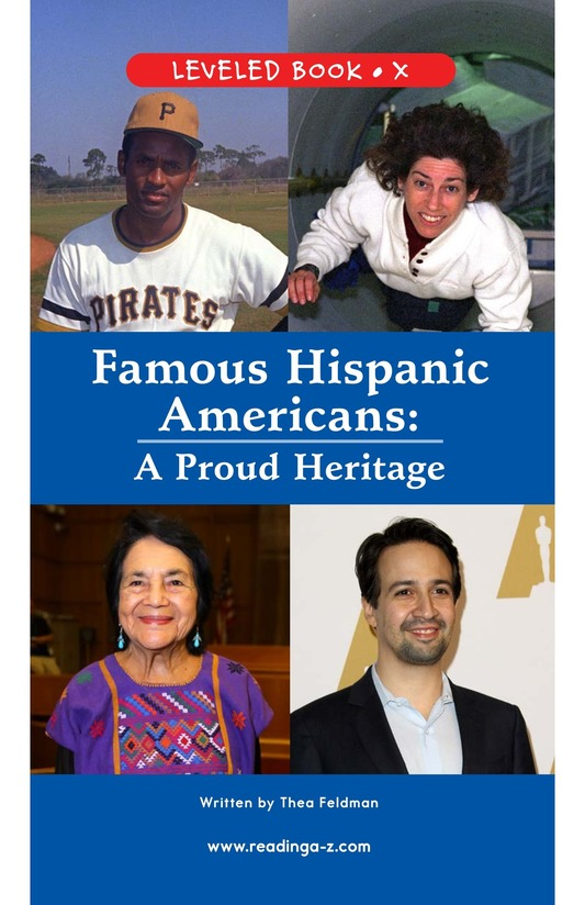 Book Preview For Famous Hispanic Americans: A Proud Heritage Page 1