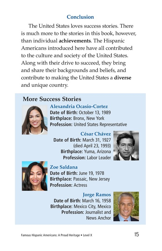 Book Preview For Famous Hispanic Americans: A Proud Heritage Page 15