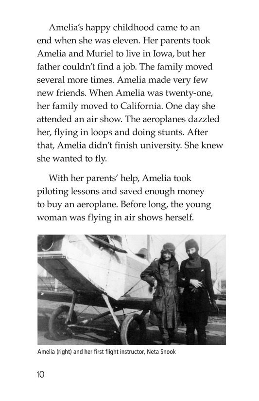 Book Preview For Amelia Earhart: A Legend in Flight Page 10